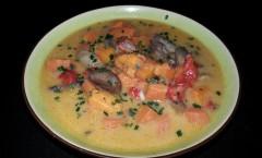 Soupe de légumes au lait de coco