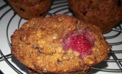 Muffin coco-céréales et fruits rouges