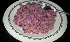 Coleslaw au chou rouge