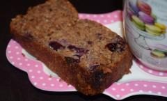 Cake fondant aux fruits secs et myrtilles