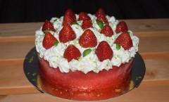 Parfait glacé fraise des bois-citron vert et basilic de Julien Chamblas
